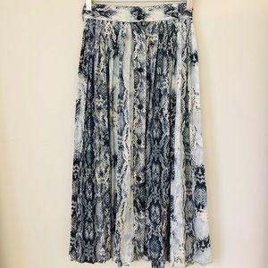 Dresses & Skirts - Snake Skin Print Pleated Skirt.